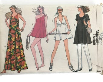 Vogue Sewing Pattern 7367 UNCUT, Misses' Size 8, Very Easy Vogue Maternity Design, Maternity Swimsuit, Maternity Tennis Dress and Pants