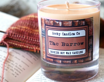 The Burrow Scented Candle - Book Candle - Gingerbread Scented - Soy Candle - Christmas Candle - Cozy Candle