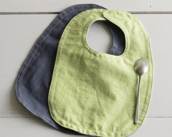Set of two linen bibs, Baby bib, Up to 18 Months, Reversible
