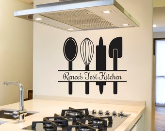 Kitchen Wall Decal - Kitchen Wall Decor - Kitchen Utensils - Wall Decal - Kitchen Decal