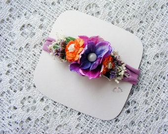 Baby headband, Flower headband, Newborn big prop headband, Photography prop, Colorful props