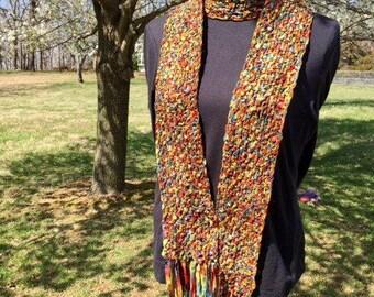 Rainbow ribbon scarf
