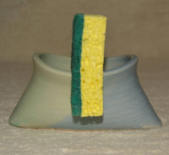 Sponge Holder, Kitchen Storage, Stoneware, Ceramic , Sky Blue, Pastel Green, Kitchen Sponge,