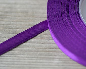 Dark Purple Ribbon 6mm Plum Ribbon Satin Ribbon Craft Supply Wedding Ribbon Decorative Ribbon Bouquet Ribbon Thin Ribbon Gift Wrapping