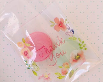 Thank you Floral Sweets cello bags 30