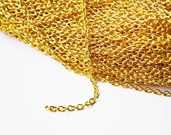 Gold Oval Bulk Chain - 10 M