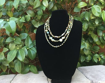 Freshwater Pearl Crystal Necklace