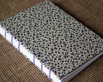 Hardback lined fabric journal A5