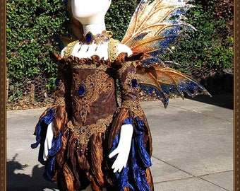 Children's Fairy Wings/Fairy Princess Dress**RTS**Copper/Blue/Gold**5-6 Yrs. Old**FREE SHIPPING**Costume/Photography/Halloween