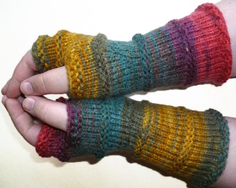 Knit Fingerless gloves | Arm warmers | Womens Fingerless | Long Fingerless Mittens | Wrist warmers | Hand warmers