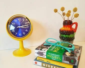 Space age alarm clock pedestal tulipfoot Lumen West Germany ##SOLD##