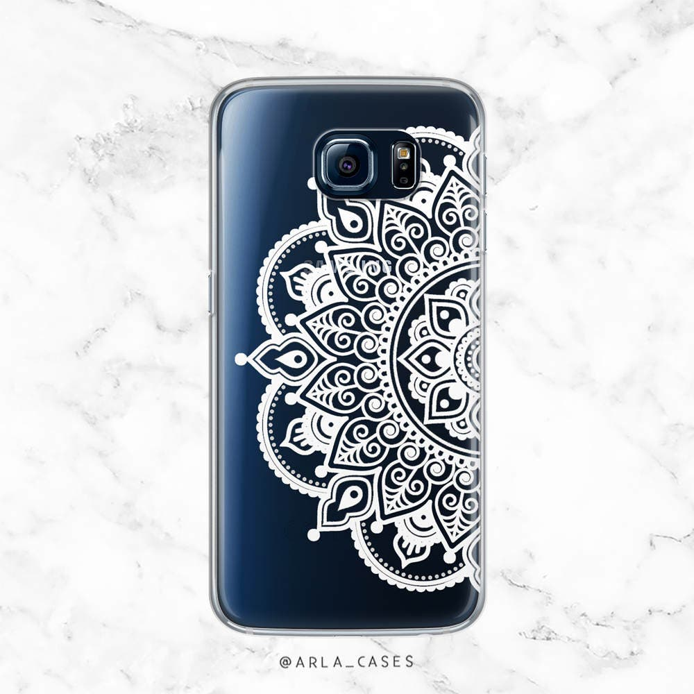 How to use scrapbook on galaxy s5 - Mandala Phone Case Clear Phone Case With Design Henna Phone Case Samsung Galaxy S7 Case Galaxy S5 Case Galaxy S6 Case Cute S7 Case