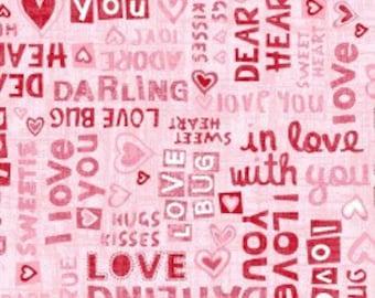 Maywood Studio Dear Hearts- In Love, Fabric by the Yard