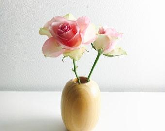 """Vintage Aarikka wooden vase named """"Sireeni"""" by Kaija Aarikka , 1980s - Made in Finland"""