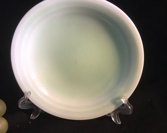 A030  Footed Hand made glass bowl from the 1940's
