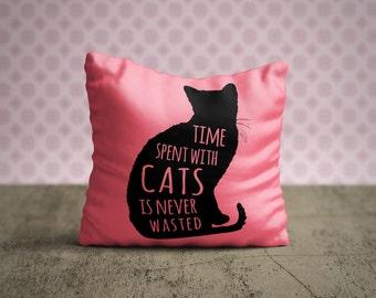 Cat Pillow Case, Cat Pillow Cover, Cat Throw Pillow, Animal Pillow Case, Decorative Pillow Case, Cat Lover Gift, Cat Home Decor, Cat Bedding