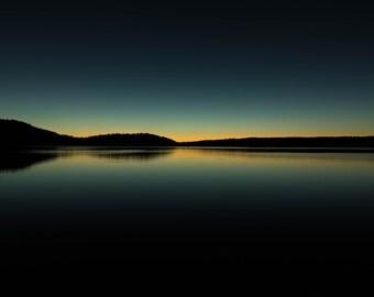 Paulina Lake Sunset Photograph, Oregon Photo, Bend, Wall Decor, Central Oregon, Fine Art, La Pine Newberry Crater, Paulina Lake