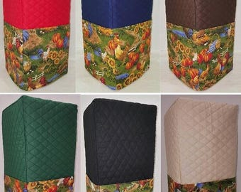 Quilted Rooster Blender Cover w/Pocket (2 Sizes Available)