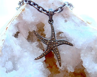 Diamond Pave Star Fish Bracelet