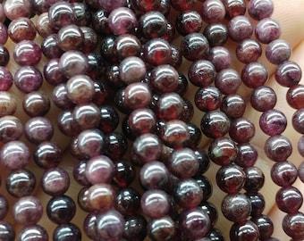 Round garnet beads, 4 mm garnet beads, gemstone beads, semiprecious stones, jewelry design, wholesale beads B40