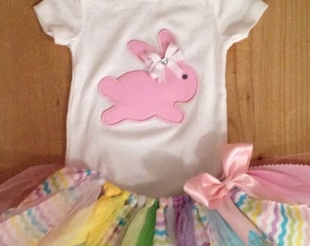 Easter Bunny Scrap Fabric Tutu Outfit