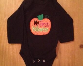 My 1st Halloween Pumpkin Baby Bodysuit