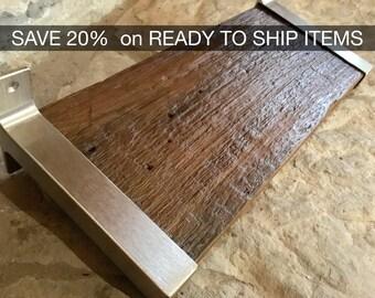 "READY TO SHIP - Reclaimed Wood Shelf - 18"" x 7.5"""