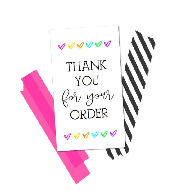 INSTANT DOWNLOAD Makers Thank You Card 3 5x2 business