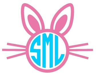 Easter Bunny Monogram