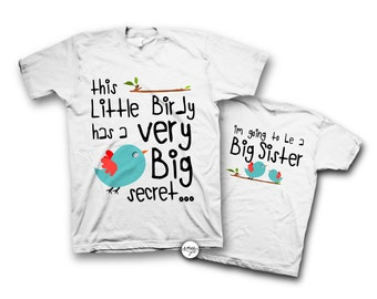 Big Sister Announcement Shirt Big Sister Shirt I'm Going to be a Big Sister I have a secret shirt