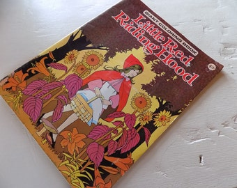 Vintage Coloring Books Unused Snow White or Little Red Riding Hood 1970s