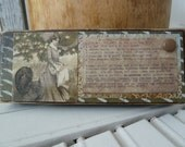Handmade primitive distressed wooden mixed media sign - Thanksgiving