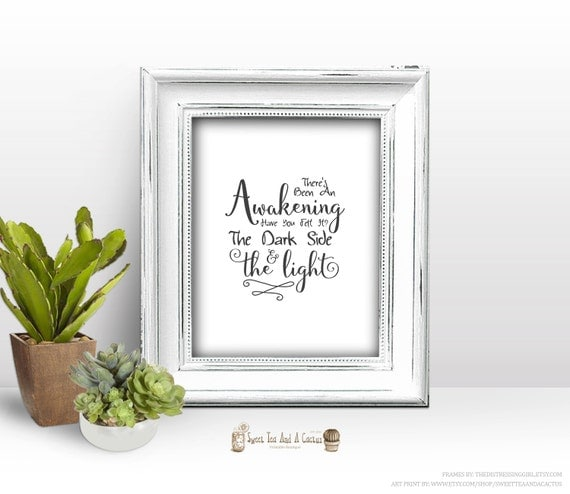 star wars inspirational quote printable the force awakens