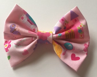Pink princess bow