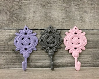 Shabby Chic Wall Hook   Bathroom Hook   Towel Hook   Nursery Decor    Decorative Wall
