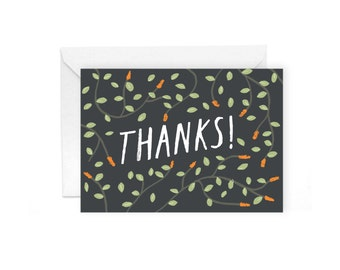 Thanks! greetings card - botanical plant stationery