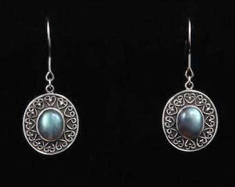Labradorite 087 - Earrings - Sterling Silver