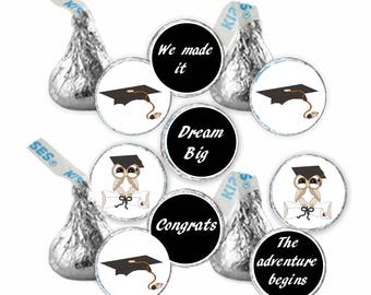 Printable Hershey Kiss labels Graduation DIY INSTANT DOWNLOAD (108+labels per page)