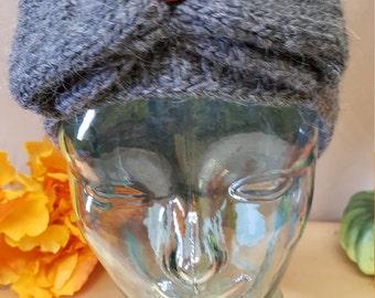 Headband. Hand knit from sheep wool yarn