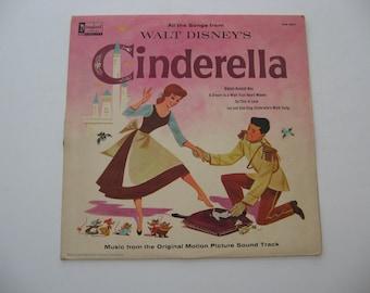 Rare Vinyl! - Walt Disney's Cinderella - Circa 1959