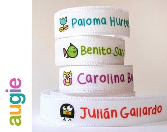 30 LABELS Names + 30 STICKERS  Custom Clothing Labels Sew on labels + Paper Stickers same design · FREE !