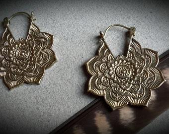 brass earring *gypsy big*