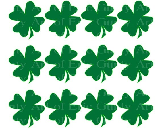 Irish St. Patrick's Day Clover - Birthday Background - Designer Strips - Edible Cake Side Toppers- Decorate The Sides of Your Cake! - D22125
