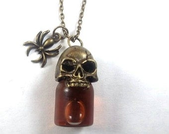 Skull Vial Of Blood Necklace