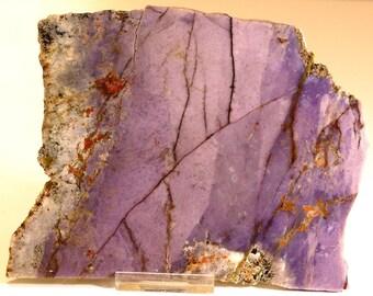 Beautiful Large Purple Burro Creek Agate Damsonite Slab
