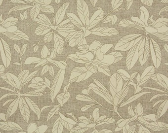 Beige And Brown Floral Leaves Woven Solution Dyed Indoor Outdoor Upholstery Fabric By The Yard | Pattern # A0130A