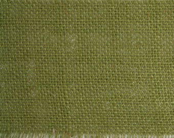 "Olive 4"" by 10 yards burlap fringe edge ribbon. (RBF04-09)"