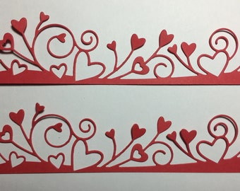 Heart Party Border Diecuts -- set of 2