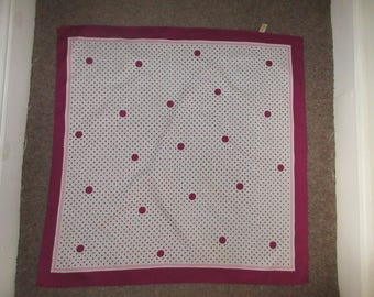 Vintage 1960's 'St Michael' Polyester Scarf - Made In Italy - Cute!!