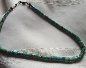 Old pawn,Santo Domingo, Heishi, turquoise necklace.